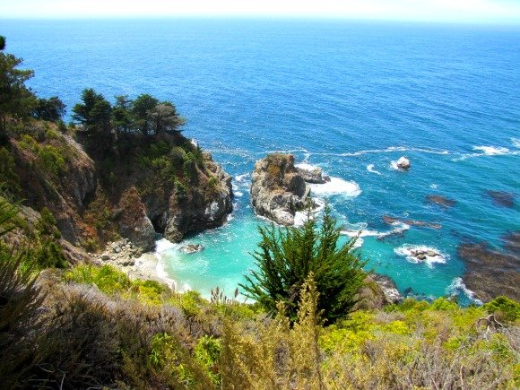 Cove located north of McWay Cove, Big Sur, California