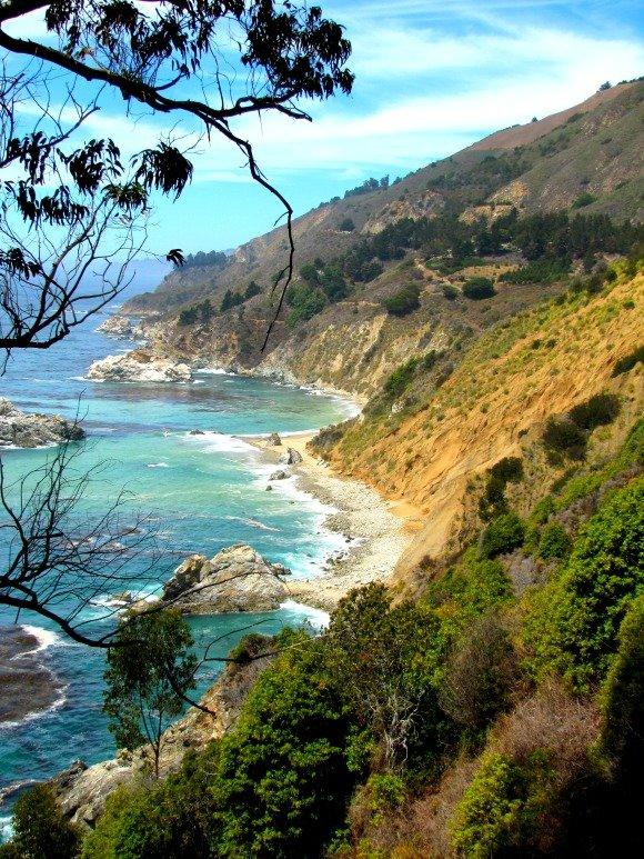 Cove located north of McWay Cove, Big Sur, California