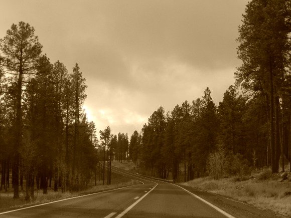 State Route 89A, north of Oak Creek Canyon, Sedona, Arizona