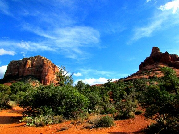 Courthouse Butte and Bell Rock, Sedona, Arizona