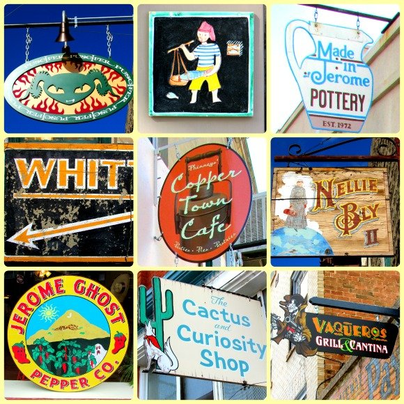 Signs, Jerome, Arizona