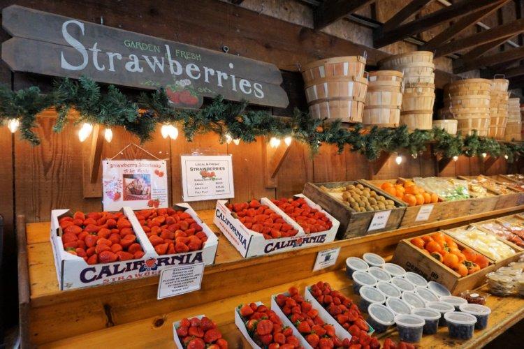 Strawberries and other produce at the Avila Valley Barn, Avila Beach, Things to do in Avila Beach, California