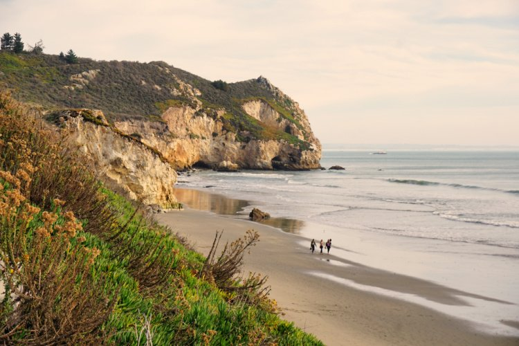 Fossil Point seen from the beach promenade, Avila Beach, Things to do in Avila Beach, California