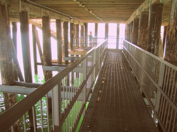 Walkway under the Avila Beach Pier, California