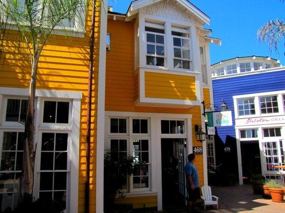 Colorful buildings at Downtown Avila Beach, California