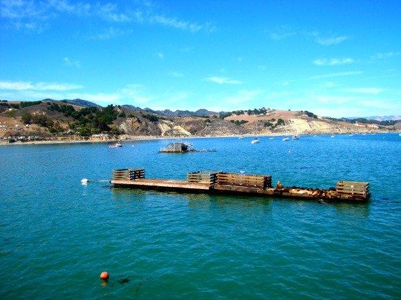 View from the Hartford Pier in Avila Beach, California