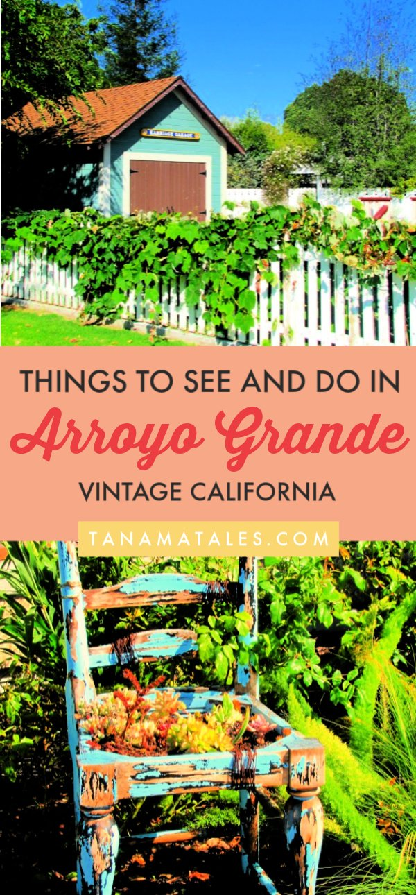 Things to do in Arroyo Grande, #California – Arroyo Grande, a small town in San Luis Obispo County, is known for its Village, wine tasting rooms, swinging bridge vintage charm, great restaurants and proximity to Pismo and Avila Beach. Get ready because I am spilling the beans on the best things to do in Arroyo Grande! #roadtrip #beachtown #PCH #CentralCoast