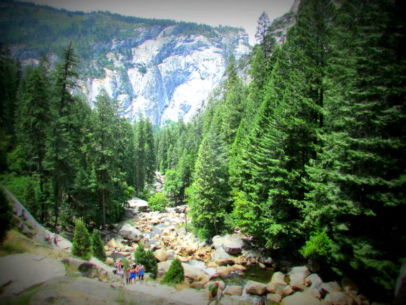 Hike to Vernal Fall, Yosemite National Park, California