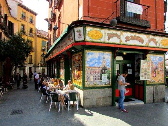 Tile covered restaurant, Madrid, Spain