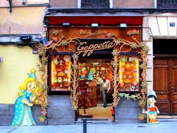 Wood shop, Madrid, Spain