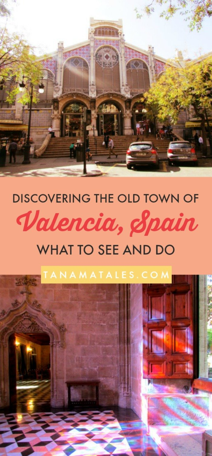 #Valencia, #Spain - Things to do and travel ideas - Get to know Valencia's Ciutat Vella or Old Town.  It is a place full of palaces, plazas and towers that where once part of the defensive wall. Make sure to fit in stops for food (paella and horchata) and shopping (Central Market).