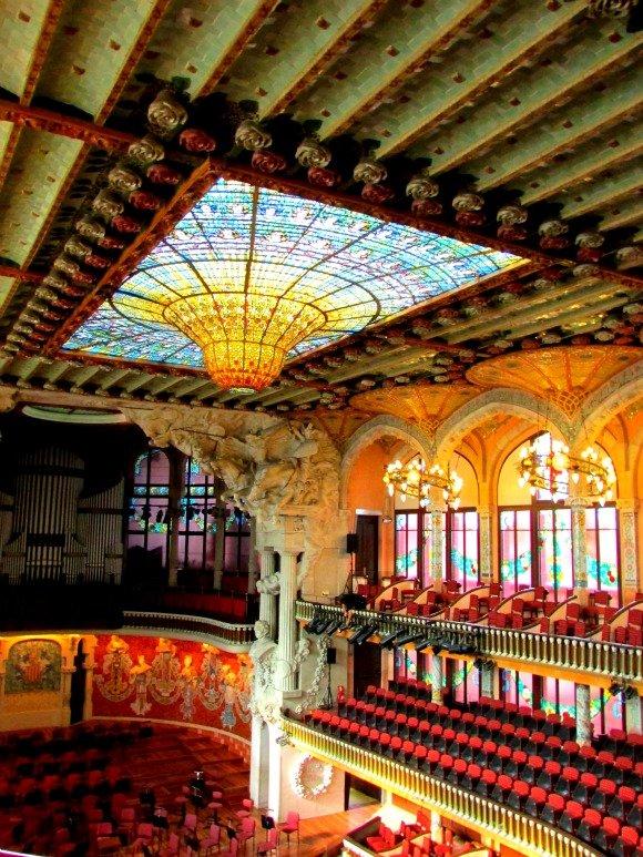 Palau de la Musica Catalana, Barcelona, Spain