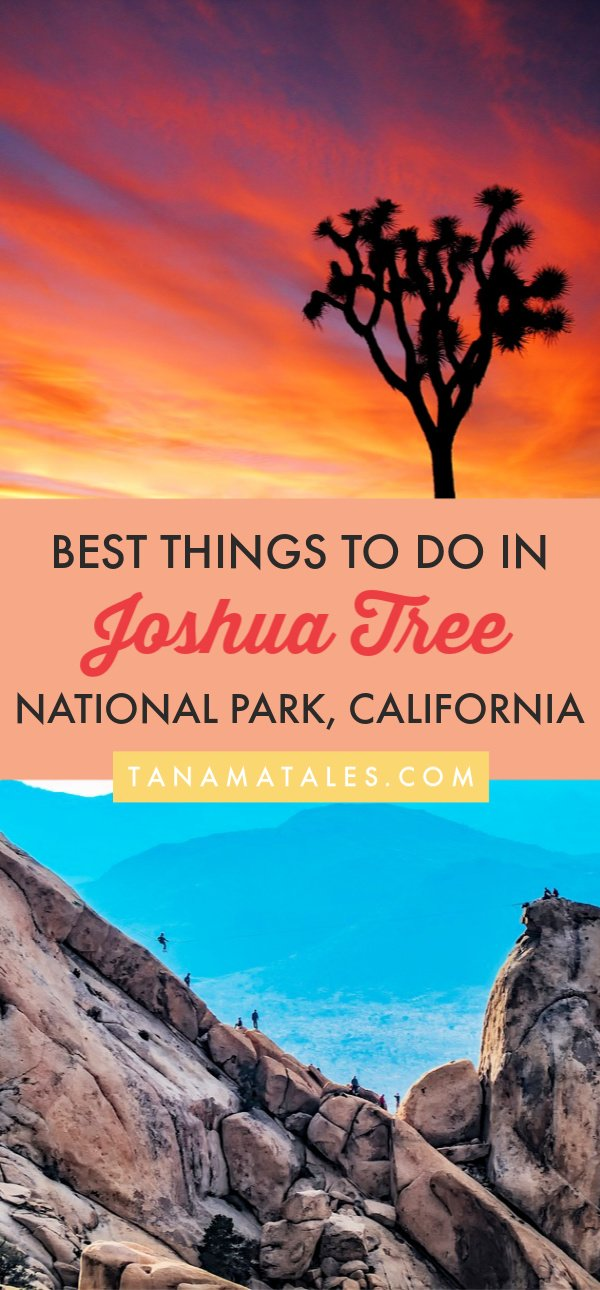 Things to do in Joshua Tree National Park, #California – Travel tips and vacation ideas – My guide to Joshua Tree is designed for one day, two days or more days visit. In it, you will find everything from easy (and challenging) hikes, camping ideas, car routes, photogenic spots and places to visit in the nearby communities. Come and check out this desert gem! #SouthernCalifornia #PalmSprings #CoachellaValley