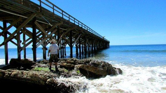 Pier at Gaviota State Beach, Santa Barbara, Gaviota Coast, California, Beach