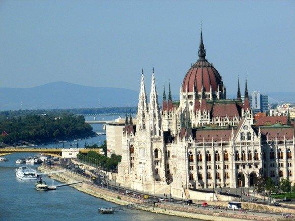 Views from Buda Castle, Budapest, Hungary