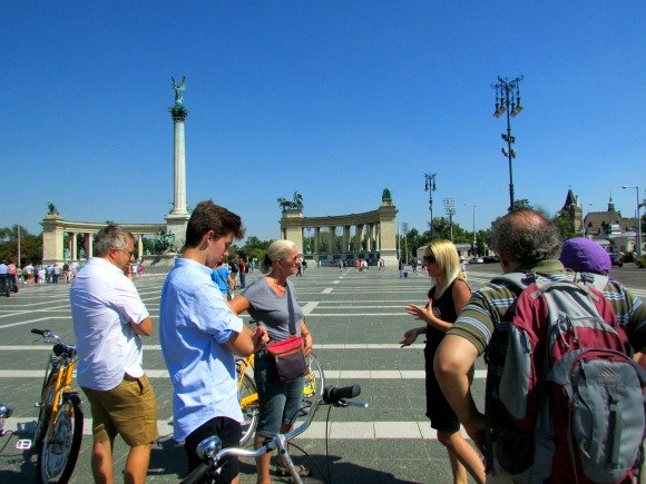 Heroes Square, Yellow Zebra Bike Tours, Budapest