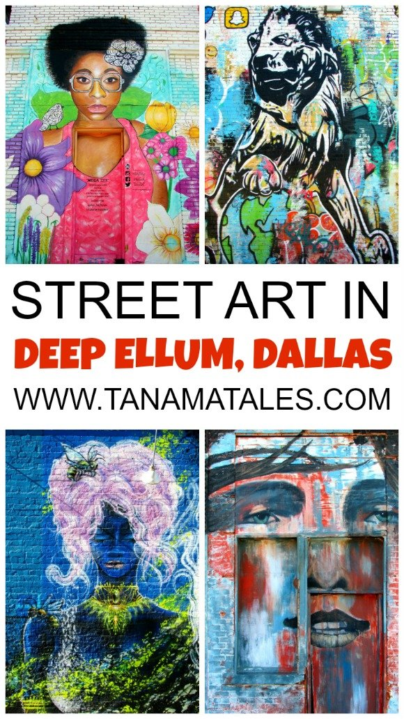 Discover the best street art in Dallas at the Deep Ellum neighborhood. The area contains more than 40 elaborated murals.