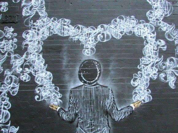 Where to find street art in Manhattan,SOHO, NYC