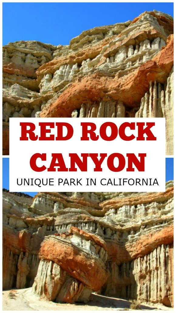 Red Rock Canyon State Park is located in a remote area of the Mojave Desert. Its cliffs and formations are the best example of red rocks in California.