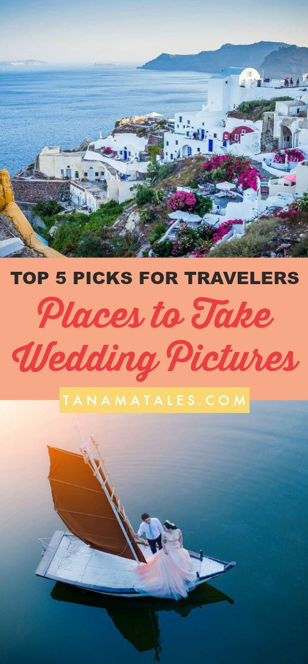 Unique Wedding Picture Ideas - Looking for grand and awe-inspiring places to take wedding pictures? Well, look no further. We have 5 locations here for all sorts of travelers! In these epic location, the entire bridal party (bride, groom, bridesmaids) will have no problem posing to capture awesome memories.