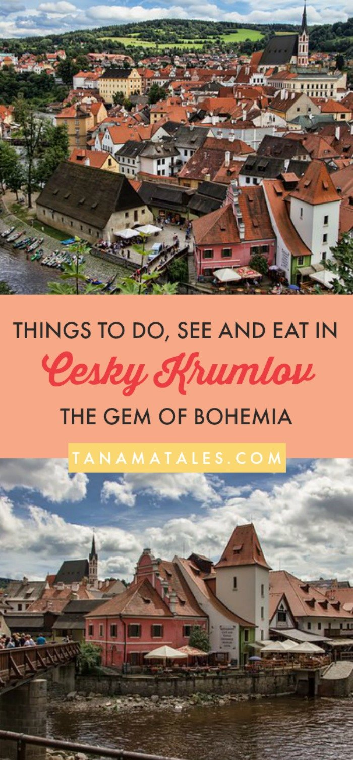 Things to do in Cesky Krumlov, #Czechia – Travel tips and ideas – This guide gives you ample ideas on what to see, do and eat in #CeskyKrumlov. I present you the best attractions (the castle rocks!), restaurants and hotels. In addition, I provide info about rafting, free walking tours, photography spots and shopping. #CezchRepublic #Czechia #Bohemia