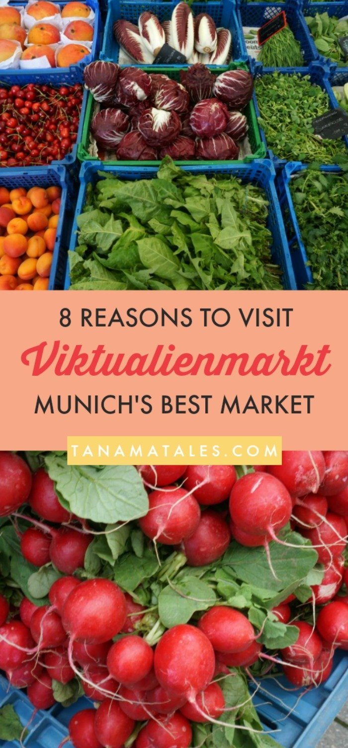 Best things to do in #Munich, #Germany – Travel tips and ideas - The Viktualienmarkt is Munich's most famous and historical market. This guide will give you 8 fantastic reasons to stop by and enjoy 140 stalls of delicious food. Thinks about all the fruits, vegetables, cheese, olives, vegetable spreads, honey, dried fruits, wine, sausages, oil, vinegar, mustard, bread (and much more) you can eat. This is what we can define as a farmer's market paradise! #Bavaria #Market