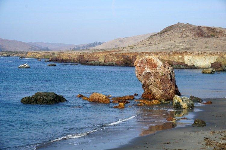Cayucos Beach California, Estero Bluffs State Park, Sea Stacks, Cliffs,