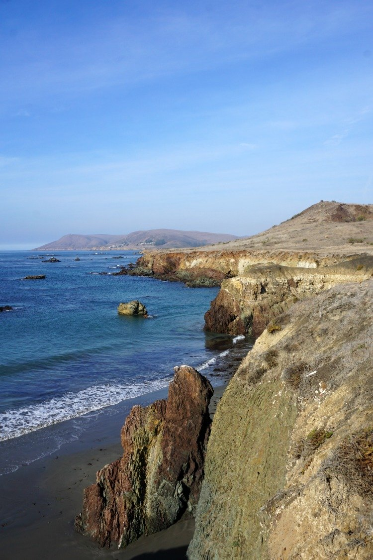 Cayucos Beach California, Estero Bluffs State Park, Sea Stacks, Cliffs,