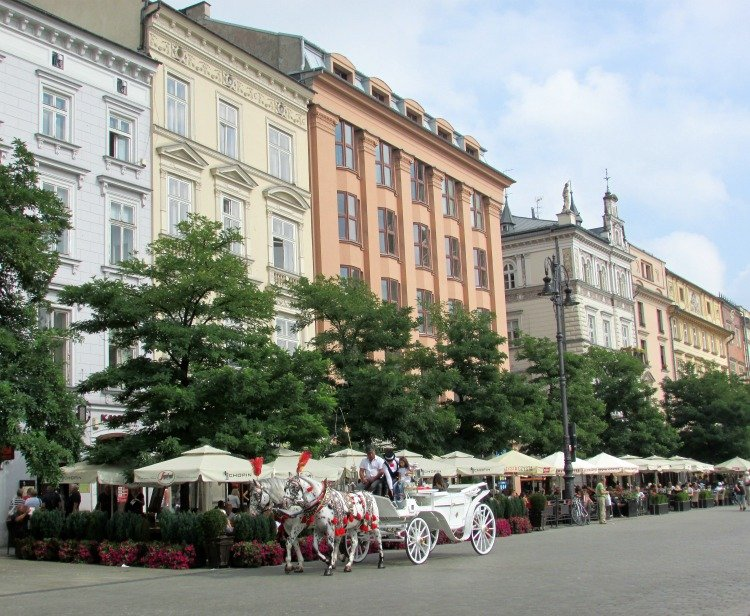 Things to do in Krakow Poland, Main Square, Cart Ride