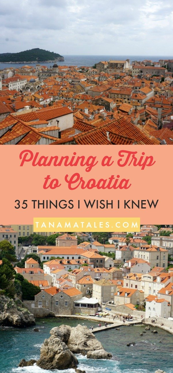 Planning a trip to #Croatia - Advice and travel tips - Before starting to put together a list of things to do in Croatia, it is important to take into consideration several aspects relate to budget and logistics. This guide will show you 35 things I wish I knew before visiting #Zagreb, Plitvice National Park, #Split and #Dubrovnik. Do not get surprised! Read this before visiting the country. #travel #beach #islands #food