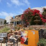 Bougainvillea covered store located in the Cedros Design District, the most exciting area of Solana Beach, San Diego