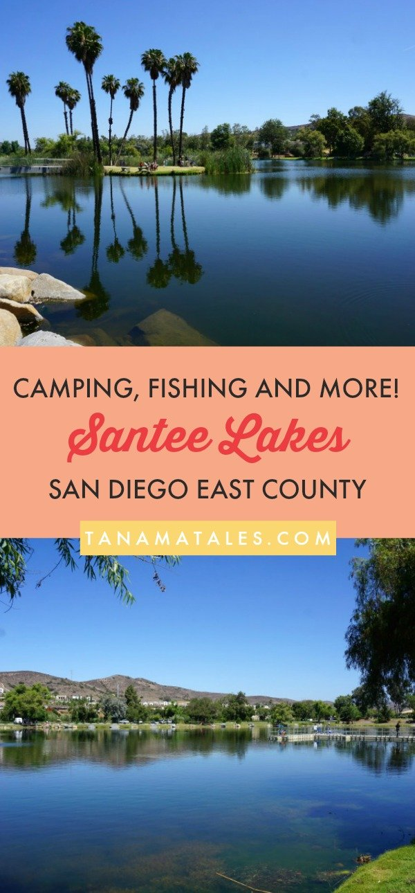 Things to do in San Diego - Travel tips and ideas - The Santee Lakes Recreation Preserve offers camping, fishing and boating opportunities in San Diego East County. This popular staycation options allows visitors to enjoy the outdoors without having to travel far from the city.  Bring the entire family for a day of fun! #SanDiego #Santee #EastCounty #California