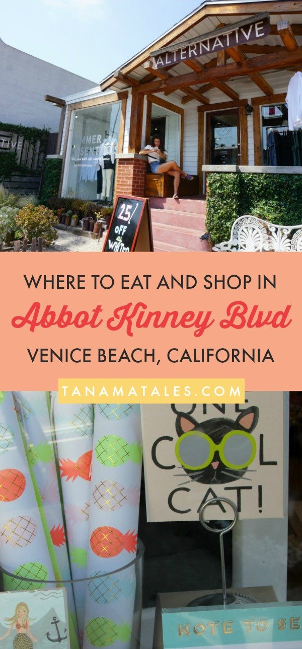 Things to do in #VeniceBeach and #LosAngeles – Travel tips and ideas - Abbot Kinney Boulevard is the definition of cool in Los Angeles.  This street located in Venice Beach has become one of the hippest places in the United States. In this article, I discuss everything from unique stores to restaurants and from markets to events. #food #style #art #California