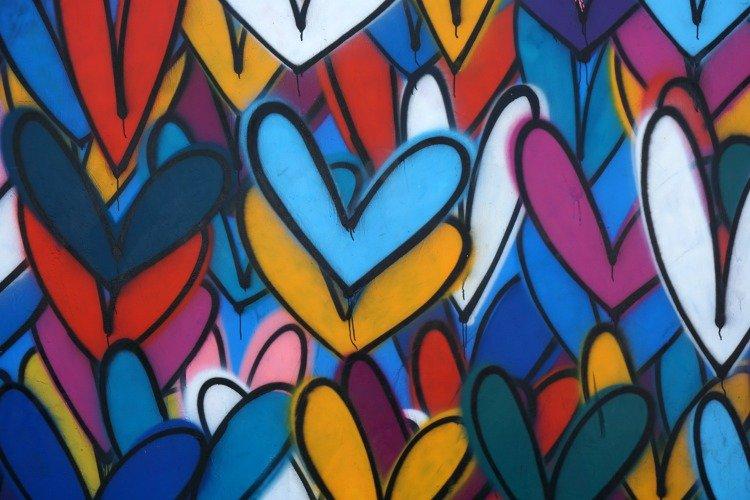Venice Beach Street Art, Love Wall by jkgolderown at Abbot Kinney Boulevard, Venice Beach, Los Angeles