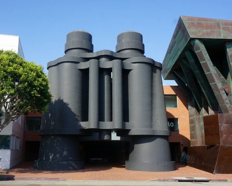 Giant binoculars located on Main Street, Venice Beach, Los Angeles