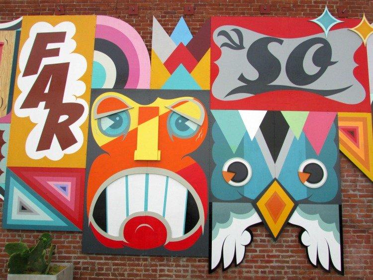Rag & Bone Mural by Alex Yanes at Abbot Kinney Boulevard, Venice Beach, Los Angeles
