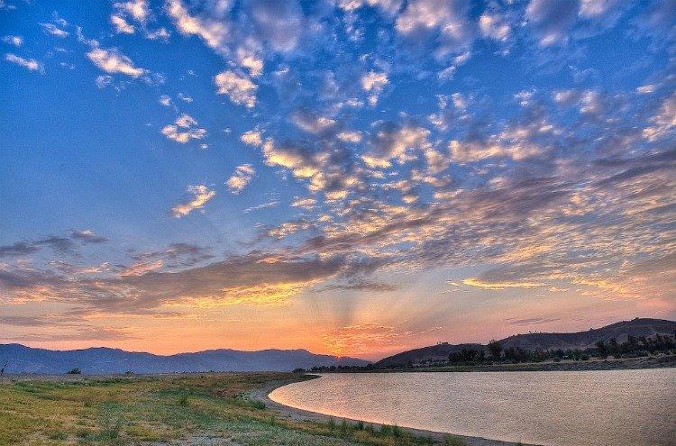Lake Elsinore in Riverside County, California