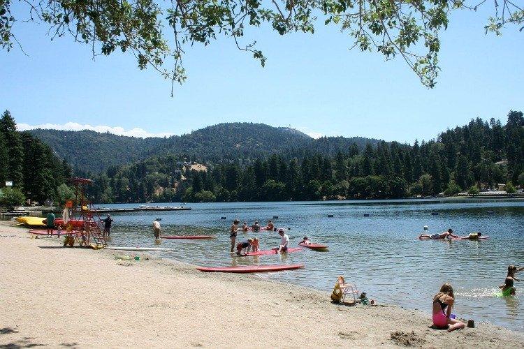 Lakes in Southern California, Lake Gregory in the San Bernardino Mountains, California