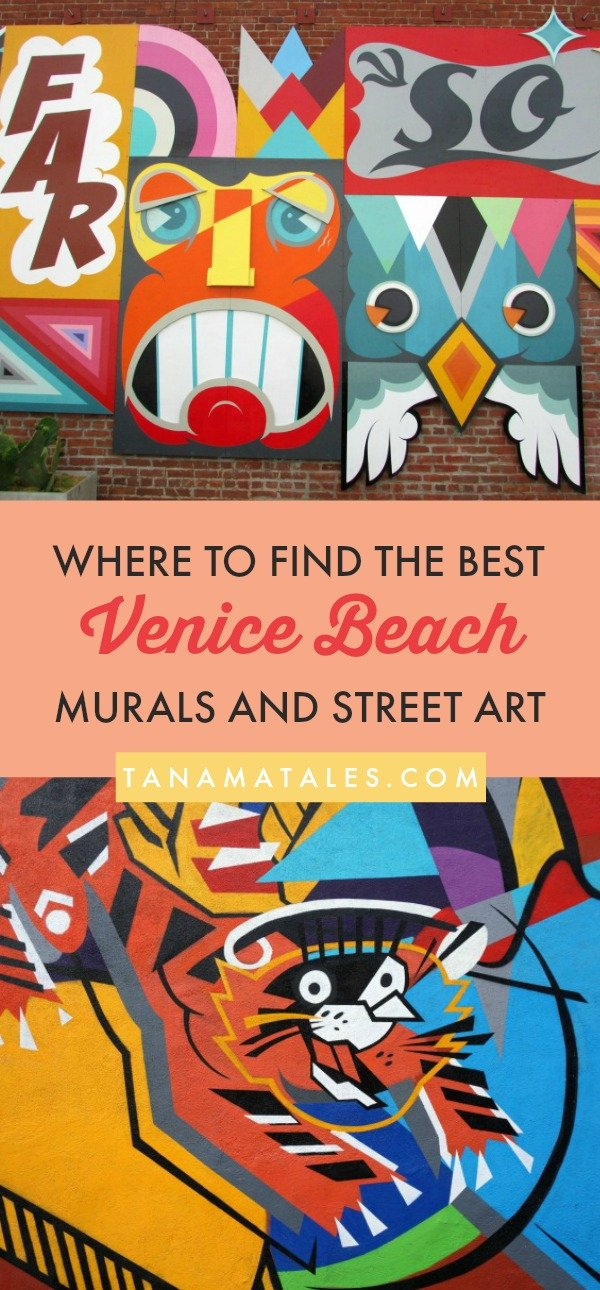 Things to do in Los Angeles, #California – Travel and vacation tips / ideas – Venice Beach is an ideal place to find graffiti, murals and street art.  My guide will take you beyond the beaten path and show you exactly where to go to fill your memory card with tremendous pictures! Plus, the guide includes more than 40 pictures of art. #LosAngeles #VeniceBeach #streetart #murals #walls #graffiti #California