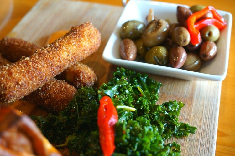 Croquettes and olives at A Basque Kitchen in the Redondo Beach Pier, Redondo Beach Pier Restaurants