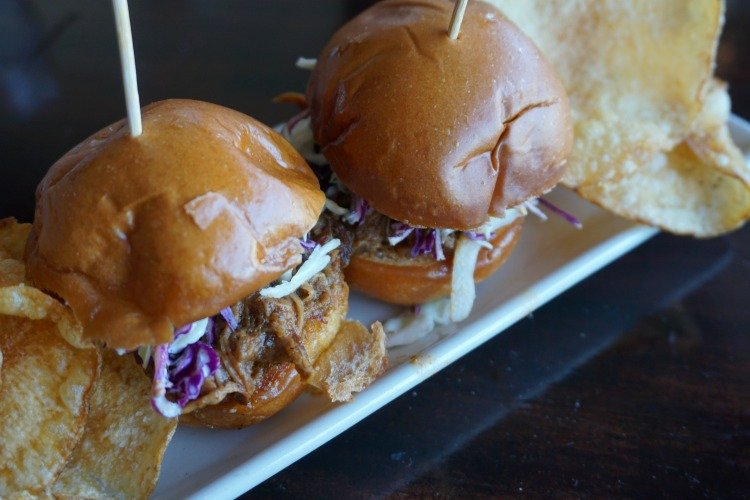 Pulled pork sliders at R/10 Social House, Redondo Beach Pier Restaurants