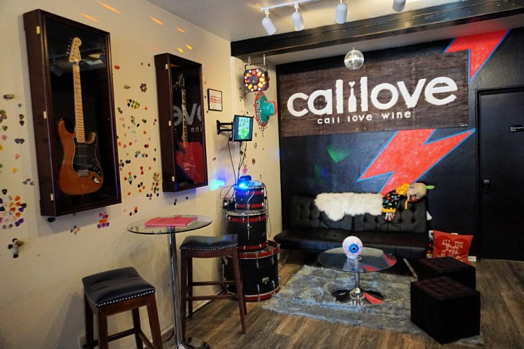 Cali Love tasting room located in Solvang, California, Solvang Wineries