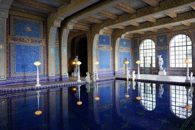 Roman pool at Hearst Castle, San Simeon, California, Pacific Coast Highway Itinerary 5 Days