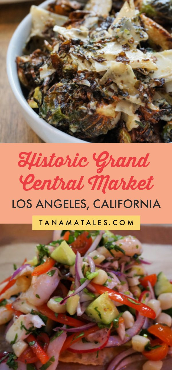 Things to do in Downtown Los Angeles, #California - Travel tips and vacation ideas - The historic Grand Central Market showcases an amalgam of sights, sounds, and smells. Since my first visit, I have been a loyal fan and visit as often as possible.  I recommend you stop by if you are within the perimeter of Downtown #LosAngeles. With over 30 food, coffee, bread, ice cream and produce stalls, this is a foodie paradise. #LA #SouthernCalifornia