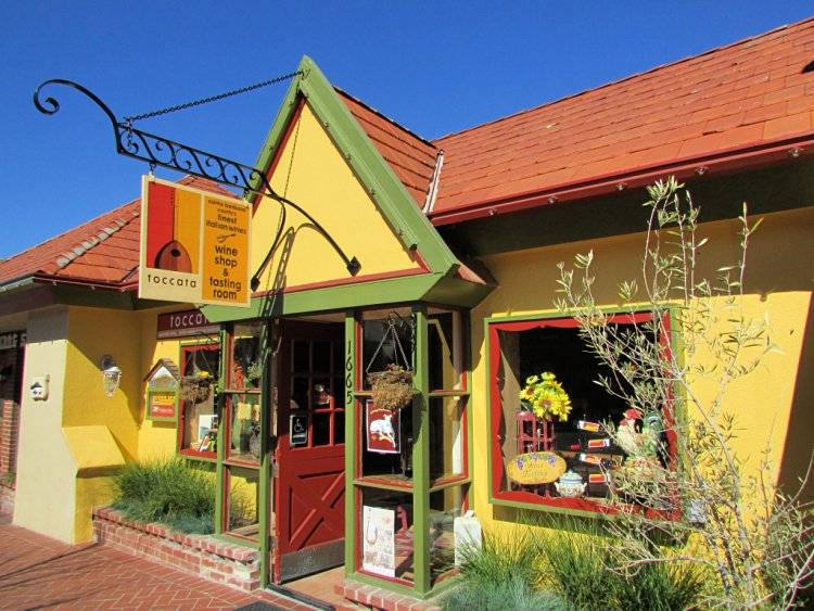 Toccata tasting room located in Solvang, California, Solvang Tasting Rooms