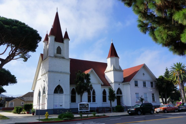 Things to do in Lompoc, Church in Old Town in Lompoc, California