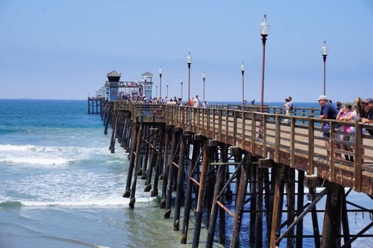 Oceanside Pier, San Diego, LA to San Diego Drive