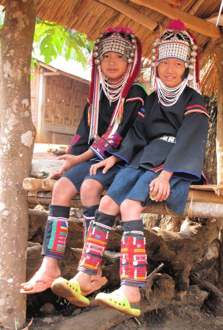 Members of the Akha tribe, Chiang Rai, Thailand