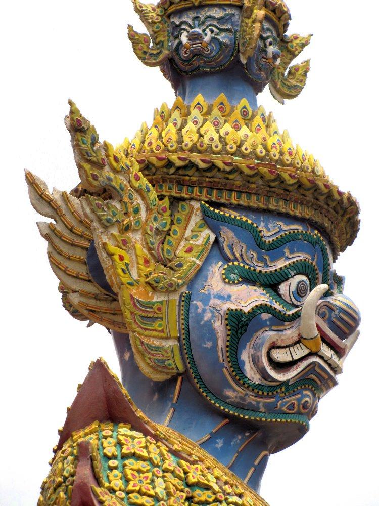 Colorful guardian at the Grand Palace, Bangkok