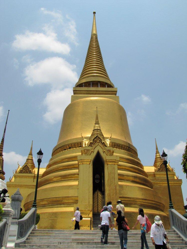 Giant pagoda at the Grand Palace, Bangkok, Thailand